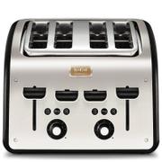 Tefal Maison TT7708UK Stainless Steel 4 Slice Toaster - Chalkboard Black