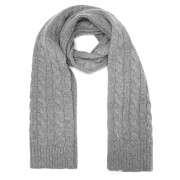 Selected Homme Men's Croft Scarf - Light Grey Melange