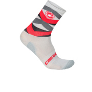 Castelli Fatto 12 Cycling Socks - Red/Grey