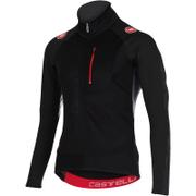 Castelli Trasparente 3 Wind Long Sleeve Jersey - Black/Grey
