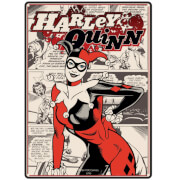 DC Comics Harley Quinn Small Tin Sign 15cm x 21cm