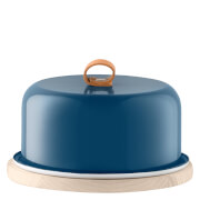 LSA Utility Cheese Dome With Ash Base - 20cm - Juniper Blue