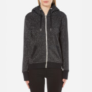 Superdry Women's Orange Label Luxe Edition Zip Hoody - Black Sparkle