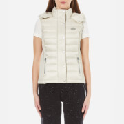 Superdry Women's Luxe Fugee Double Zip Vest - Champagne