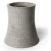 Lyon Beton Concrete Nuclear Plant - T3 Height 48cm