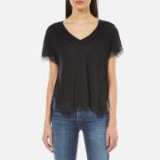 Helmut Lang Women's Lace T-Shirt - Black