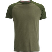 Threadbare Men's Abbot Raglan Sleeve T-Shirt - Khaki Marl