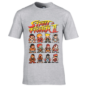 T-Shirt pour Homme -Capcom Street Fighter II -Gris