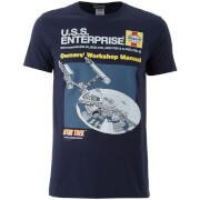 T-Shirt Homme Star Trek Original Enterprise - Noir