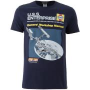 Star Trek Original Enterprise Heren T-Shirt - Zwart