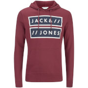 Sweat à Capuche Jack & Jones pour Homme Core Submit -Grenat