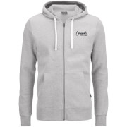 Jack & Jones Men's Originals Scala Zip Through Hoody - Light Grey Marl