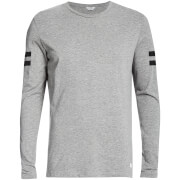 Jack & Jones Men's Core Ronur Long Sleeve Top - Light Grey Melange