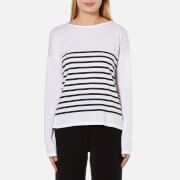 MINKPINK Women's Between the Lines Stripe T-Shirt - White/Black