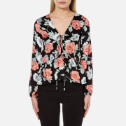 MINKPINK Women's Garden of Eden Peplum Blouse - Multi