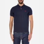 GANT Men's Contrast Collar Polo Shirt - Thunder Blue