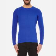 GANT Men's Cotton Texture Crew Knitted Jumper - Nautical Blue