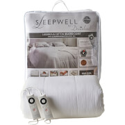 Dreamland 16330 Sleepwell Intelliheat Luxury Heated Cotton Duvet - White - King Dual