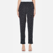 Ganni Women's Rosemont Crepe Dotted Trousers - Dotted Eclipse