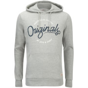 Jack & Jones Men's Originals Sweep Hoody - Light Grey Marl