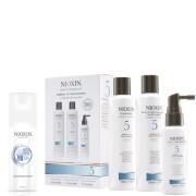 NIOXIN Hair System Kit 5 and Thickening Spray Bundle