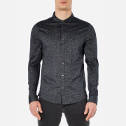 Michael Kors Men's Long Sleeve Button Down Shirt - Midnight