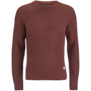Crosshatch Men's General Jumper - Red Mahogany