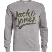 Jack & Jones Men's Originals Anything Graphic Sweatshirt - Light Grey Marl