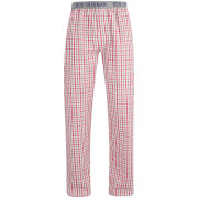 Pantalon de Pyjama Homme Ashley à carreaux Ben Sherman - Blanc/Rouge