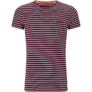Superdry Men's Lite Loomed Cut Curl Stripe T-Shirt - Fig