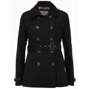 Superdry Women's Belle Trench Coat - Black