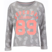Superdry Women's Pastel Beach Crew Neck Sweatshirt - Grey Marl
