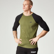 Myprotein Heren Core Baseball T-Shirt - Khaki