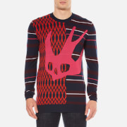 McQ Alexander McQueen Men's Swallow Crew Neck Knit - Pink