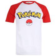 Pokemon Herren Logo Contrast T-Shirt - Weiß/Rot