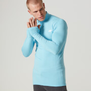 Myprotein Men's Seamless Long Sleeve 1/4 Zip Top - Blue