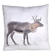 Bark & Blossom Reindeer Cushion - Multi