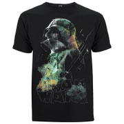 Star Wars: Rogue One Mens Rainbow Effect Darth Vadar T-Shirt - Zwart