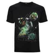 Star Wars: Rogue One Mens Rainbow Effect K-2SO T-Shirt - Zwart