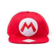 Mario M Logo Red Snapback Cap