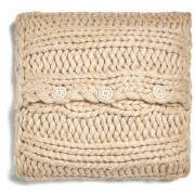 UGG Oversized Knitted Cushion Cover - Oatmeal (50x50cm)