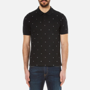 KENZO Men's Embroidered Letters Pique Polo Shirt - Black