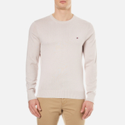 Tommy Hilfiger Men's Prime Cotton Crew Neck Knitted Jumper - Wind Chime
