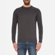 Barbour Men's Pima Cotton Crew Knitted Jumper - Charcoal