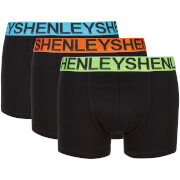 Henleys Men's 3 Pack Boxers - Black