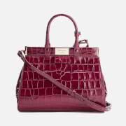 Aspinal of London Women's Dockery Snap Bag Small Tote Bag - Bordeaux