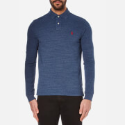 Polo Ralph Lauren Men's Custom Fit Long Sleeve Polo Shirt - Classic Royal Heather