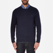 Polo Ralph Lauren Men's Long Sleeve Knit Jumper - Hunter Navy