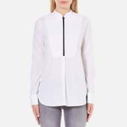 Karl Lagerfeld Women's Poplin Tunic Shirt - White