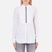 Karl Lagerfeld Women's Poplin Tunic Shirt - White